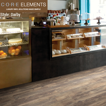 Core Elements Commercial LVT.  Style Darby