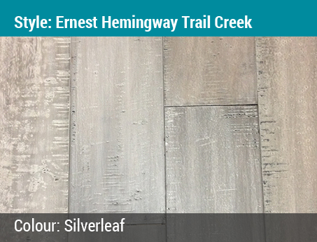 Trudy's Choice: Ernest Hemingway Engineered Hardwood | Trail Creek Collection | Color: Silverleaf
